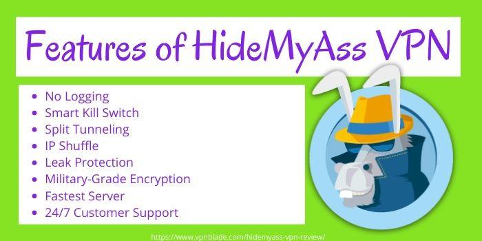 HideMyAss VPN Review - Features