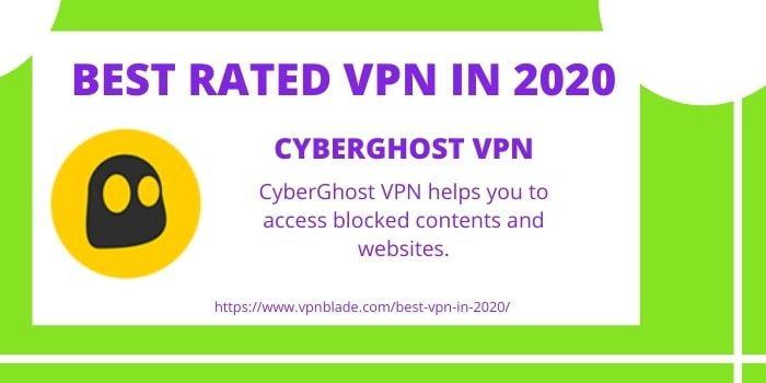 BEST RATED VPN- CyberGhost VPN