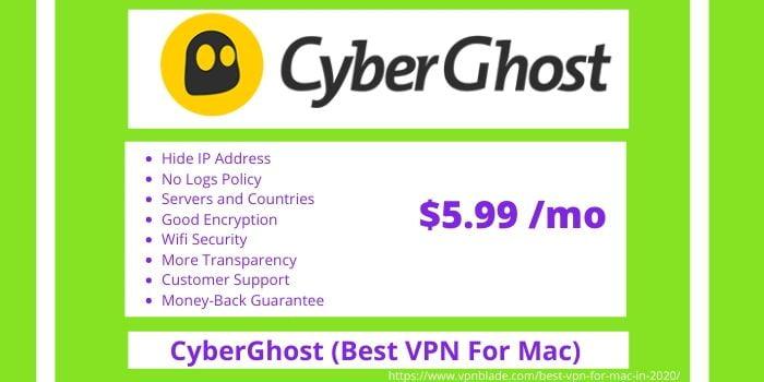 Best VPN for Mac- CyberGhost