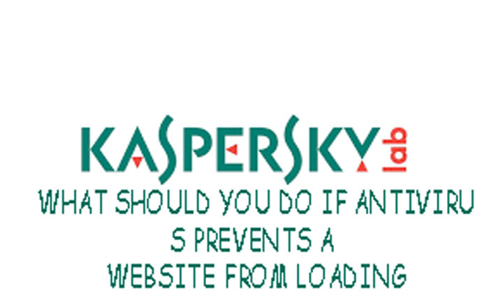 ANTIVIRUS PREVENTS A WEBSITE FROM LOADING