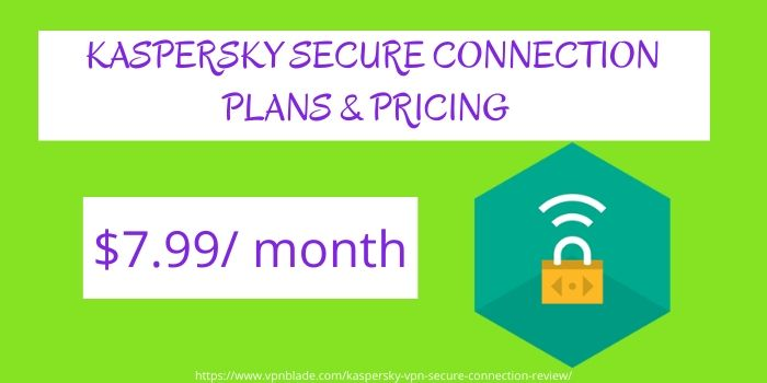 Kaspersky Secure Connection VPN Review- Pricing