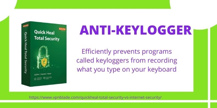 Quick Heal Total Security- Anti-Keylogger
