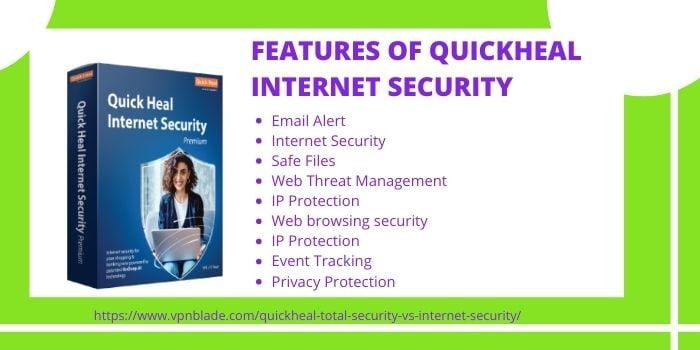 QuickHeal Total Security VS Internet Security- QuickHeal Internet Security Features