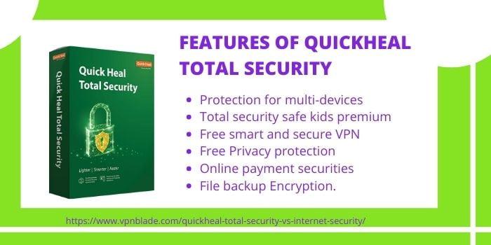 QuickHeal Total Security VS Internet Security- QuickHeal Total Security Features