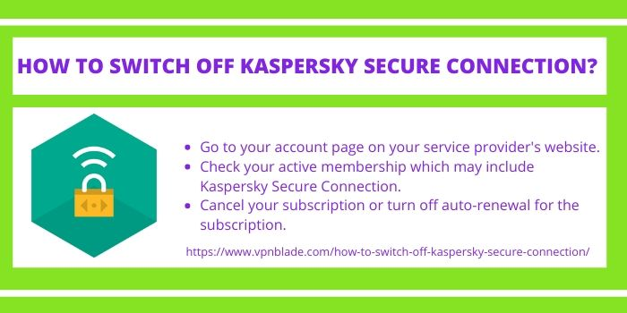 SWITCH OFF KASPERSKY SECURE CONNECTION