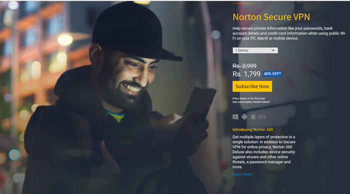 Plans of Norton VPN
