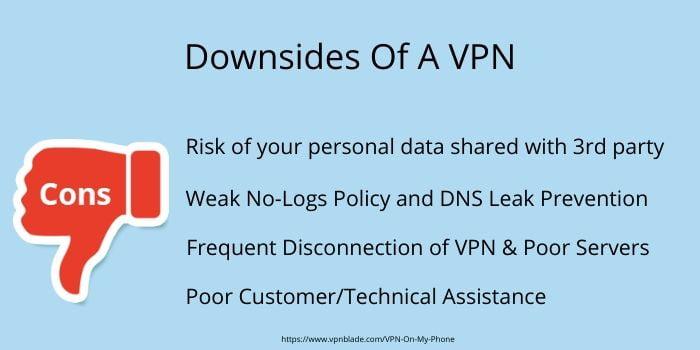 downsides of a vpn