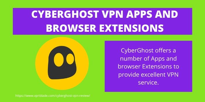 CyberGhost VPN Apps & Browsers Extension