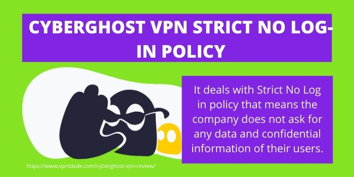 CyberGhost VPN Strict No login policy