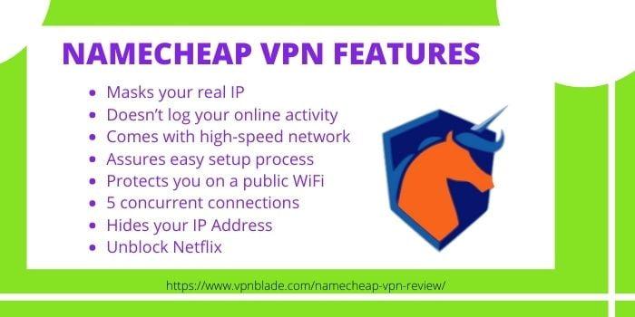 Namecheap VPN Features