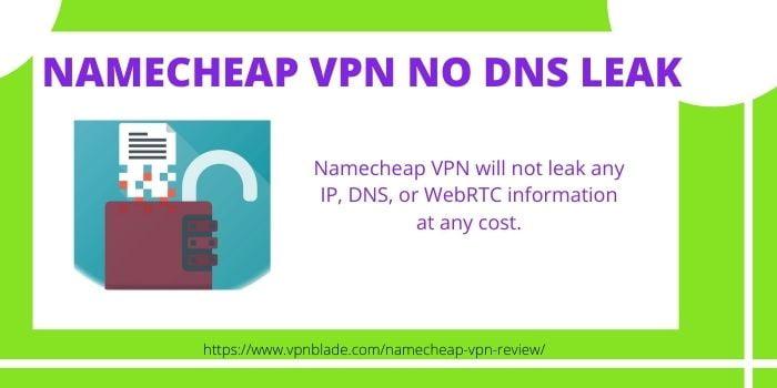 Namecheap VPN NO DNS Leak