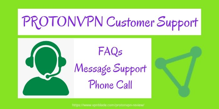 PROTONVPN Customer Support