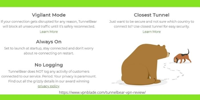TUNNELBEAR VPN REVIEW- Benefits