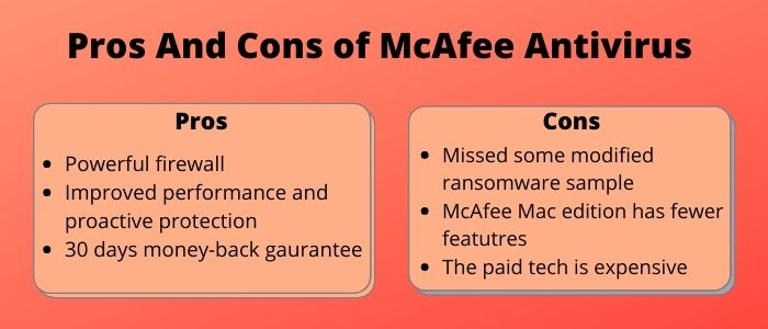 Pros And Cons of McAfee Antivirus