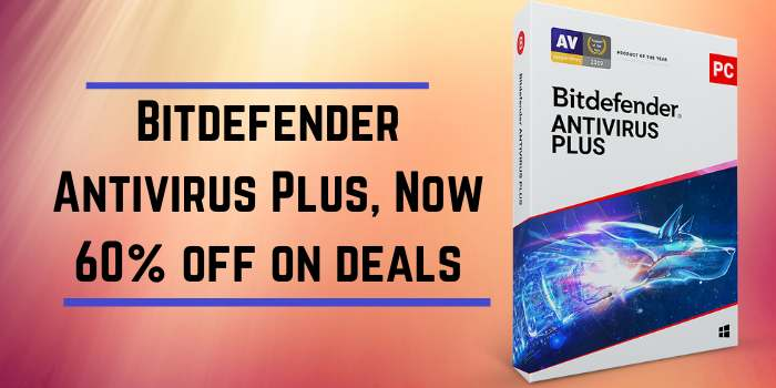 Bitdefender Antivirus Plus, Now 60% off on deals