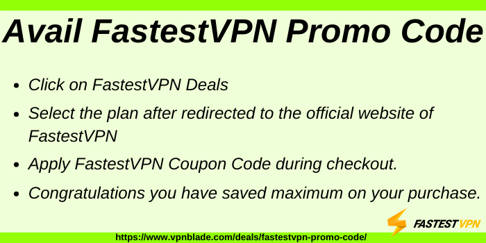 Avail FastestVPN Coupon Code