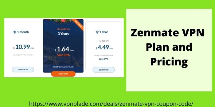 Zenmate VPN Plan And Pricing