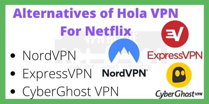 Alternatives of HolaVPN