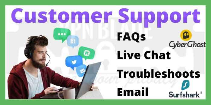 Customer Support_ CyberGhost vs Surfshark