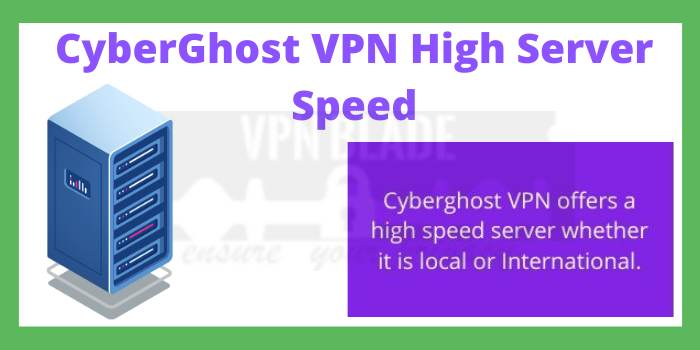 CyberGhost VPN High Server Speed