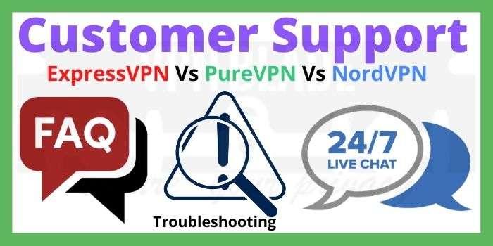 ExpressVPN Vs PureVPN Vs NordVPN Customer Support
