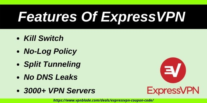 Features Of ExpressVPN