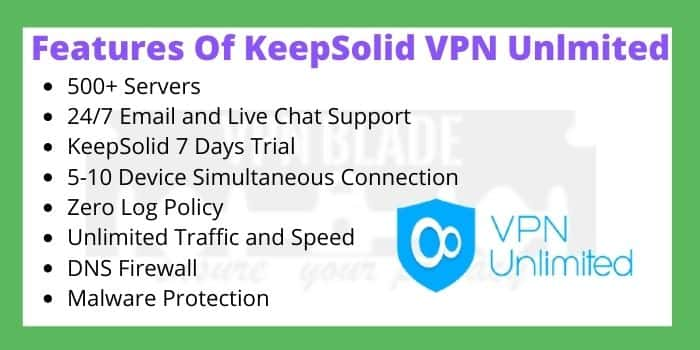 Features Of Keepsolid VPN