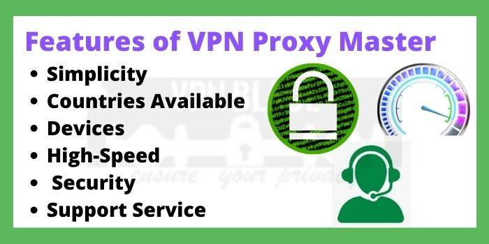 Features of VPN Proxy Master