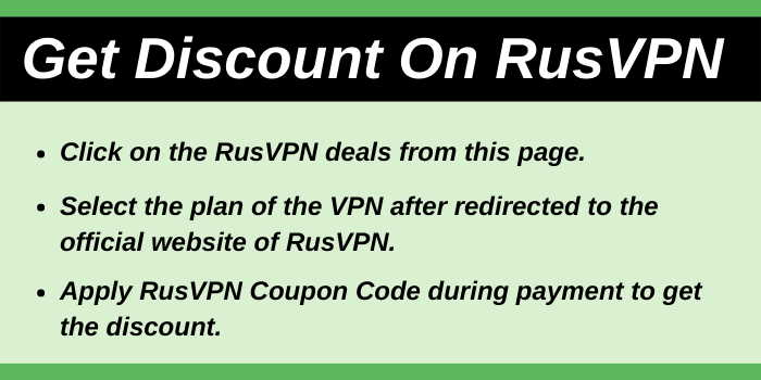 Get Discount On RusVPN