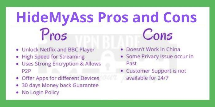 HideMyAss Pros and Cons