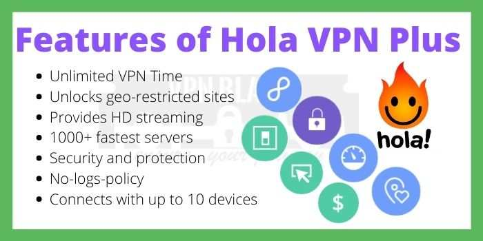 Hola VPN Features