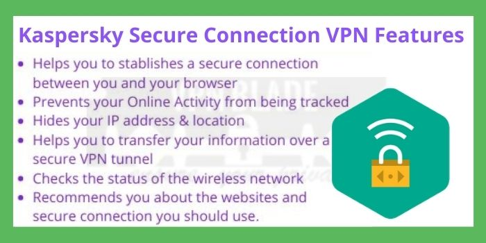 Kaspersky Secure Connection VPN Features