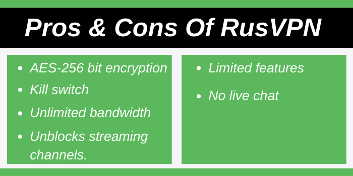 Pros & Cons Of RusVPN