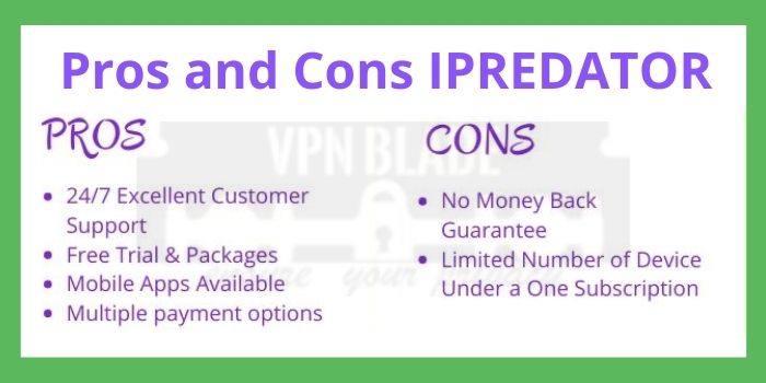 Pros and Cons IPREDATOR