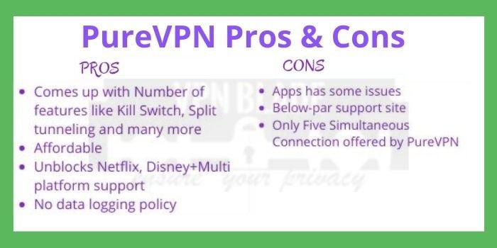 PureVPN Pros & Cons