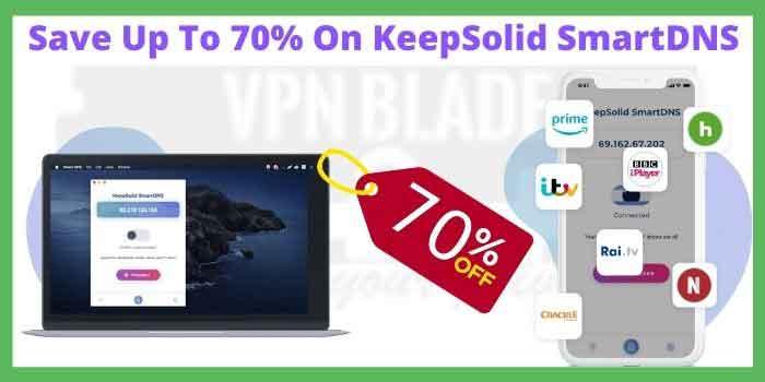 70% KeepSolid SmartDNS Coupon