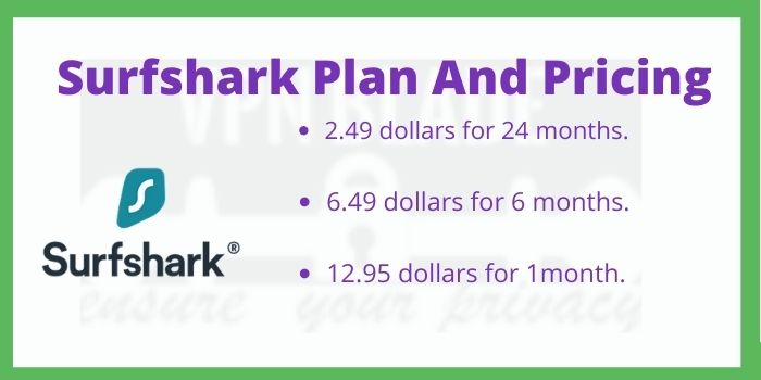 Surfshark VPN Plan And Pricing