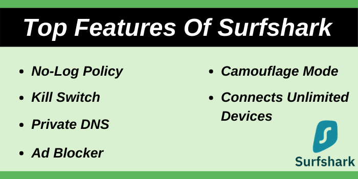 Top Features of Surfshark VPN