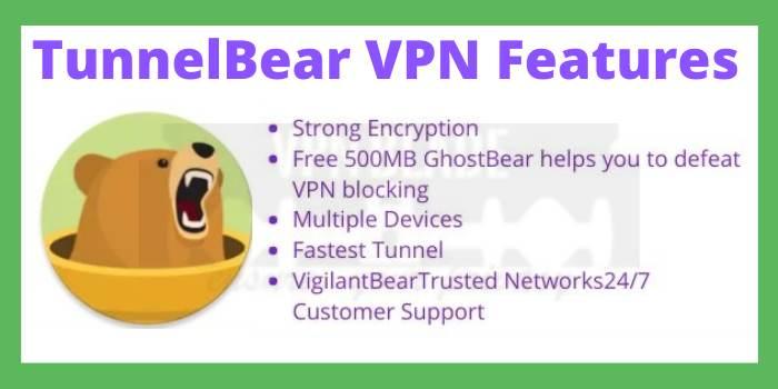 TunnelBear VPN Features