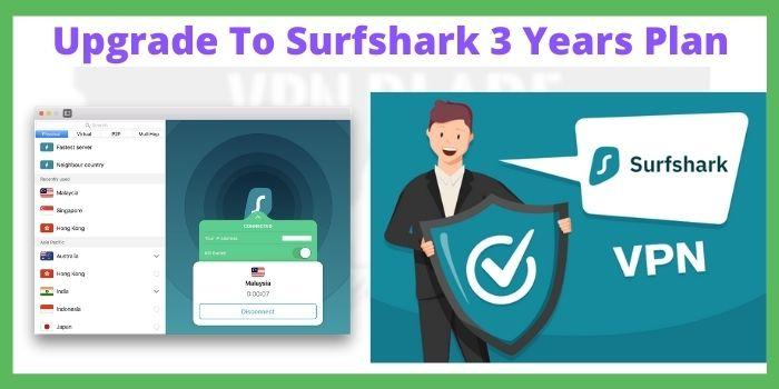 Upgrade To Surfshark 3 Years Plan