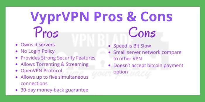 VyprVPN Pros & Cons