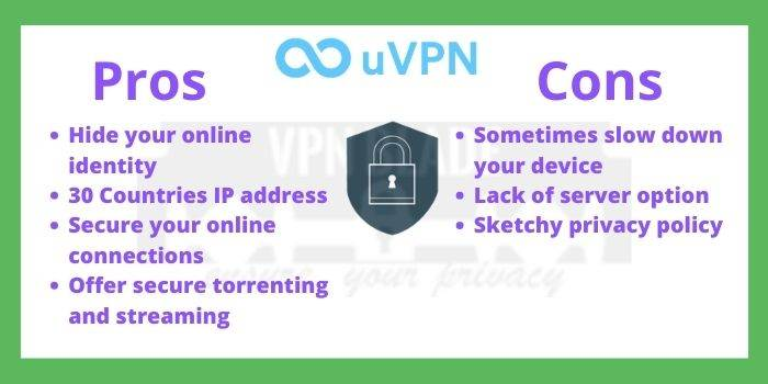 uVPN pros and cons