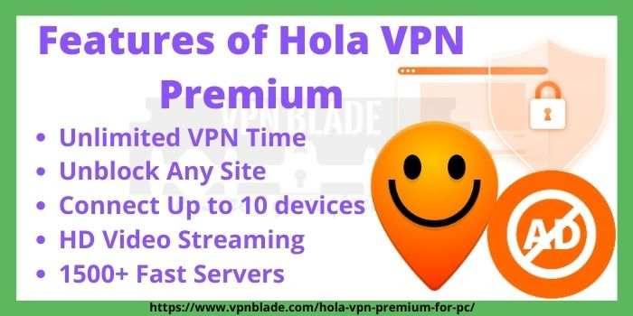 Hola VPN Premium Features