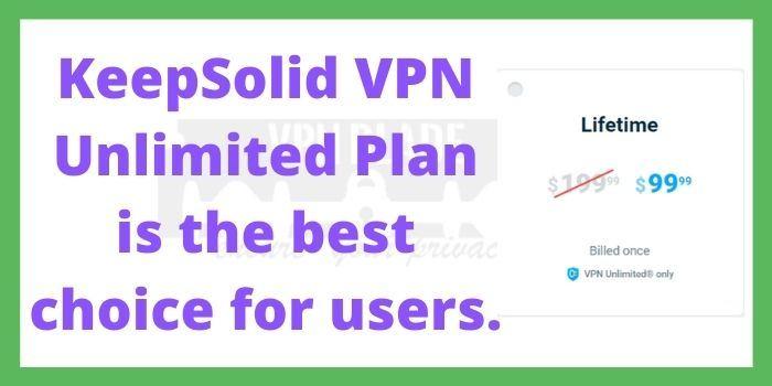 KeepSolid VPN Unlimited Plan