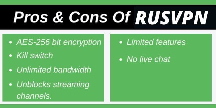 Pros & Cons Of RUSVPN