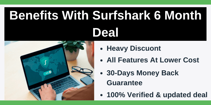 Benefits with Surfshark 6 month deal