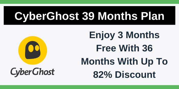 CyberGhost 39 Months Plan