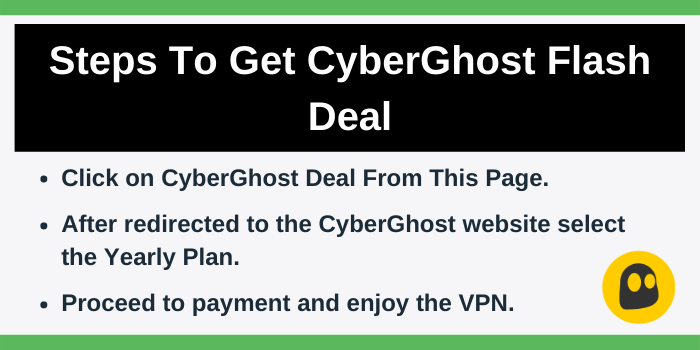 CyberGhost Discount By Following The Steps