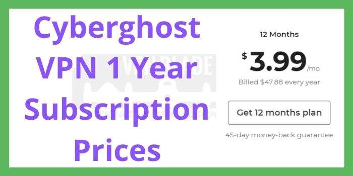 Cyberghost VPN 12 Months Subscription