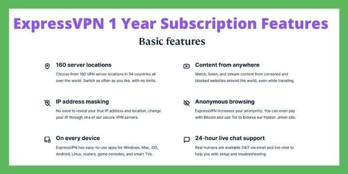 ExpressVPN 1 Year Features